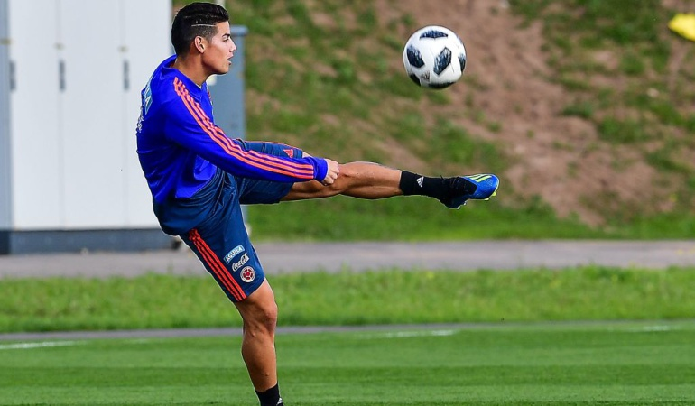 James Rodríguez Colombia Polonia Mundial 2018: James Rodríguez será titular el domingo ante Polonia