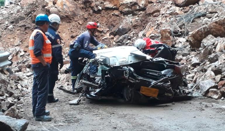 Derrumbes Bogotá Villavicencio: Al menos 4 víctimas mortales deja derrumbe en la vía Bogotá Villavicencio