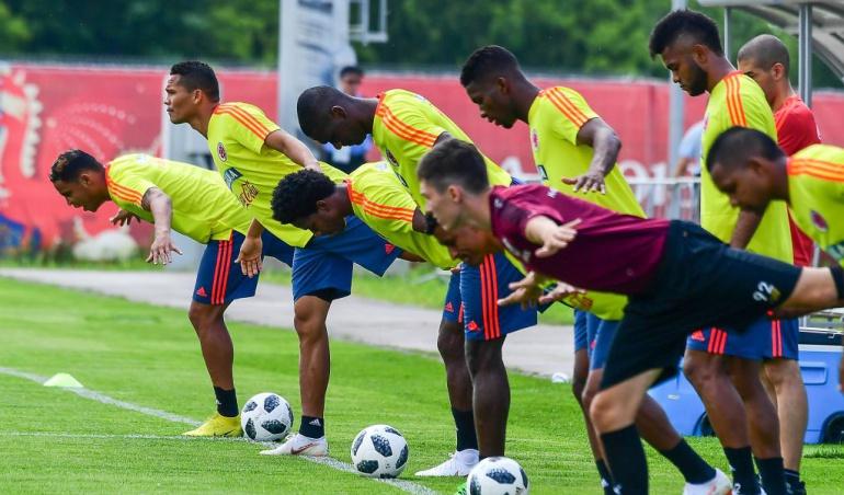 Colombia entrenamientos Abel Aguilar: Colombia retornó a entrenamientos; Aguilar no estaría frente a Senegal