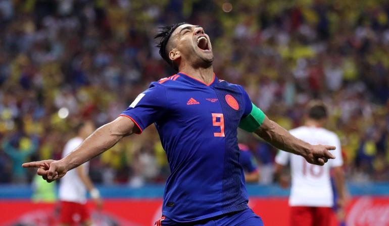 Falcao gol Selección Colombia Mundial 2018: Falcao celebró su gol en el Mundial con la narración del 'Tato' Sanint
