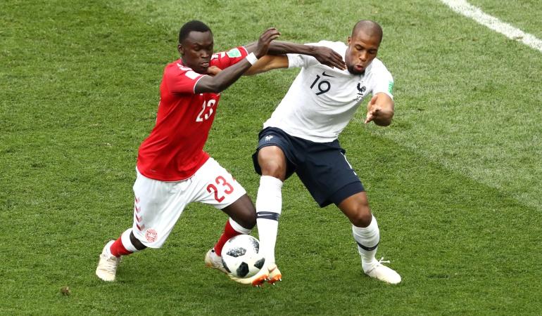 en vivo Dinamarca Francia online Mundial Rusia 2018: Dinamarca igualó ante Francia y aseguró su pase a los octavos de final