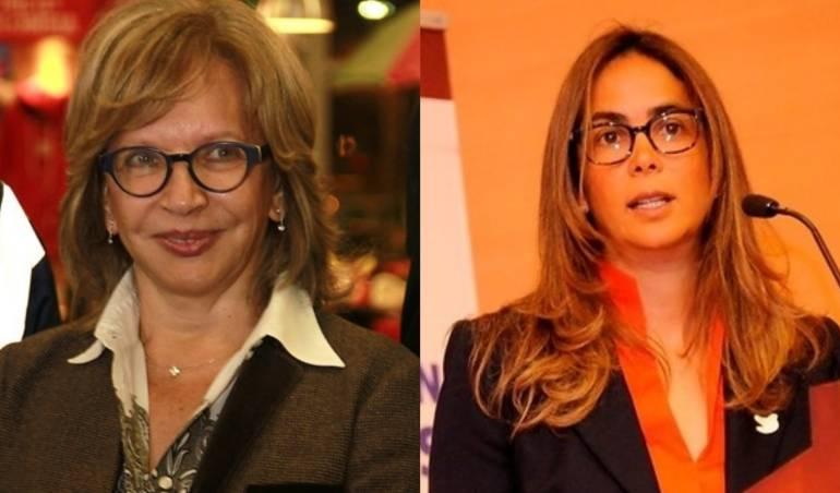 Ex ministras Cecilia Álvarez y Gina Parody