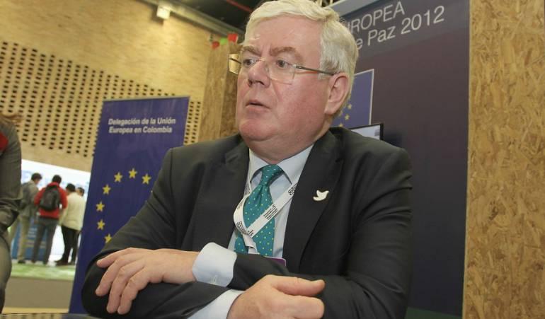 Eamon Gilmore, enviado especial de la Unión Europea para el proceso de paz.