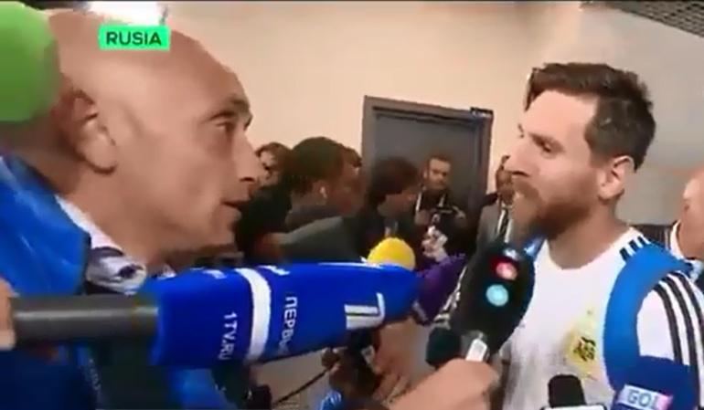 Messi manilla: Cábala y humildad: Messi sorprende a un periodista argentino