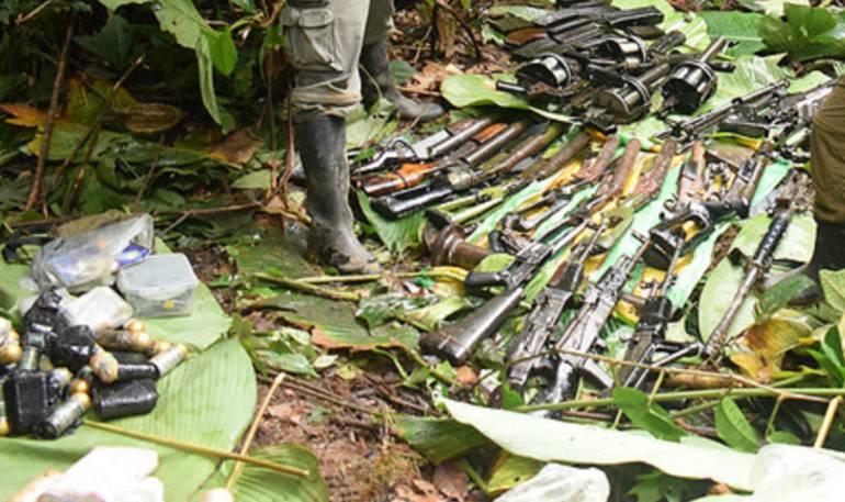 Caletas de armas: Destruyeron 205 nuevas caletas de las FARC