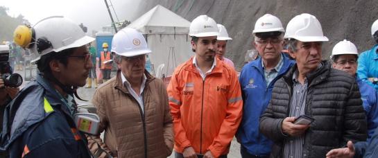 Obras del túnel de la línea: El Túnel de la Línea se entregará a mediados de 2019: Mintransporte