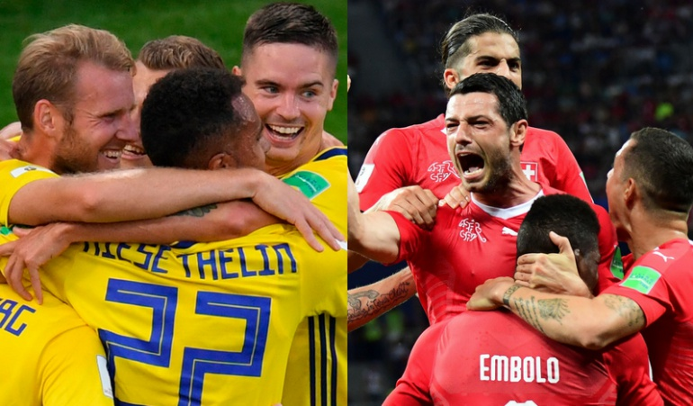 Suecia-Suiza, por el penúltimo boleto a cuartos