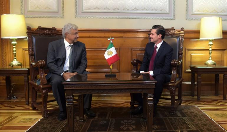 "Nuevo presidente de México: AMLO asegura transición ""ordenada y pacífica"" tras reunión con Peña"