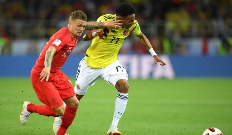 Colombia frente a Inglaterra