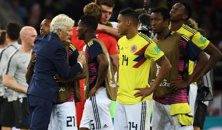 """José Pékerman eliminación Colombia Mundial: Pékerman: """"Estamos dolidos, hemos entregado todo. Merecíamos un poco más"""""""