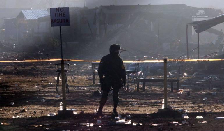 Explosión en México: Al menos 12 muertos en explosión de polvorín del centro de México