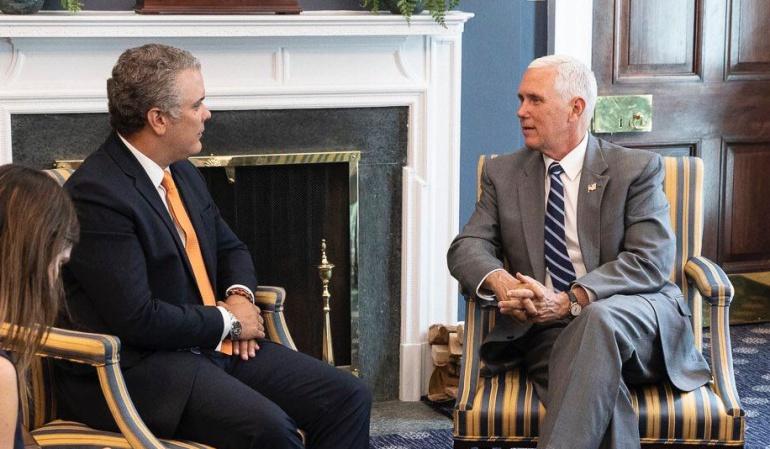 Pence y Duque acuerdan mantener la presión sobre el régimen de Maduro