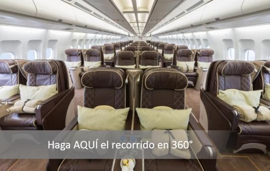 Selección Colombia: Haga el recorrido 360° en el avión en que regresó la Selección Colombia