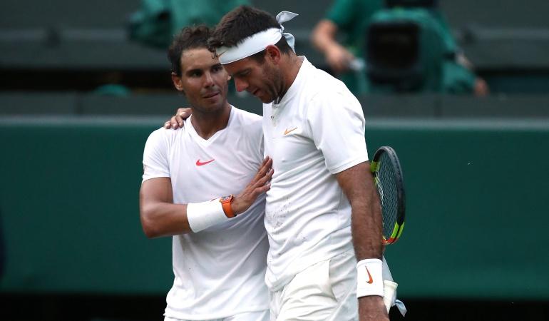 Rafael Nadal Del Potro Wimbledon Novak Djokovic: Rafael Nadal clasifica a semifinales de Wimbledon tras vencer a Del Potro