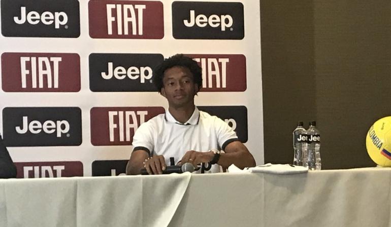 """Cuadrado Pékerman Selección Colombia fichaje Cristiano Ronaldo: Juan Guillermo Cuadrado: """"Pienso que Pékerman va a seguir con nosotros"""""""
