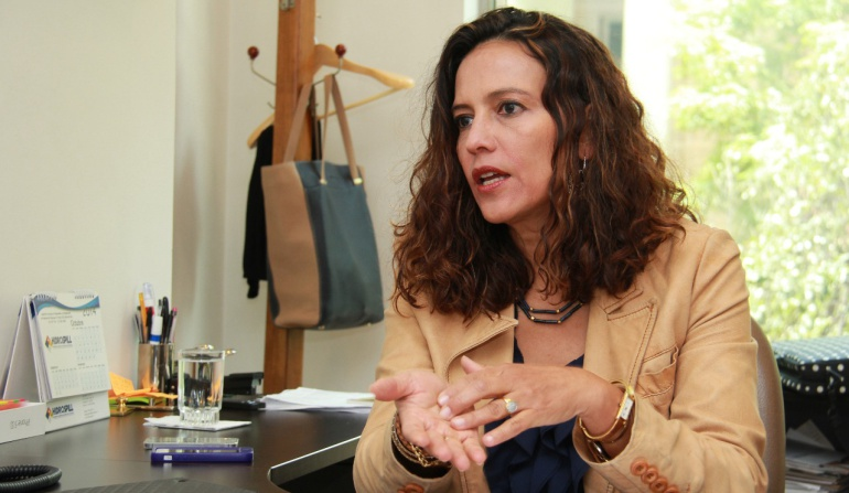 Ministra del Interior: Nancy Patricia Gutiérrez, ministra del Interior