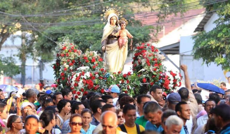 Imagen de archivo de las celebraciones del Día de la Virgen del Carmen en Colombia.