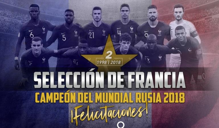 Francia 4 Croacia 2 resultado final Mundial: ¡Hay nuevo rey: Francia se coronó campeón del Mundial de Rusia!