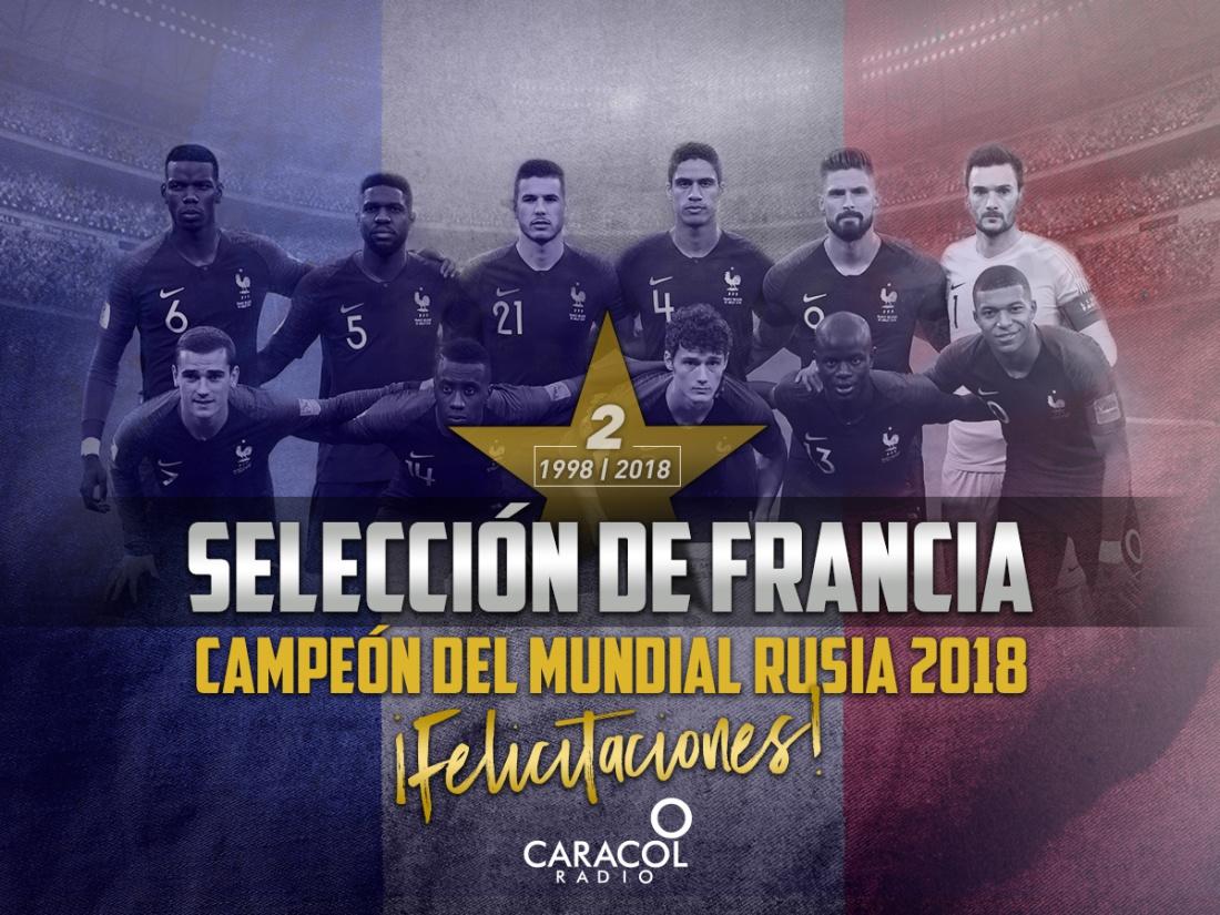Francia campeón del Mundial segundo título: ¡Felicitaciones al campeón de la Copa del Mundo!