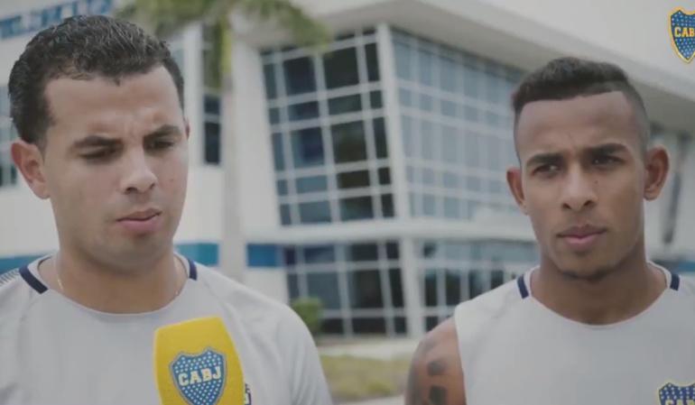 Edwin Cardona Sebastián Villa Boca Juniors: Edwin Cardona presentó a Sebastián Villa a los seguidores de Boca Juniors