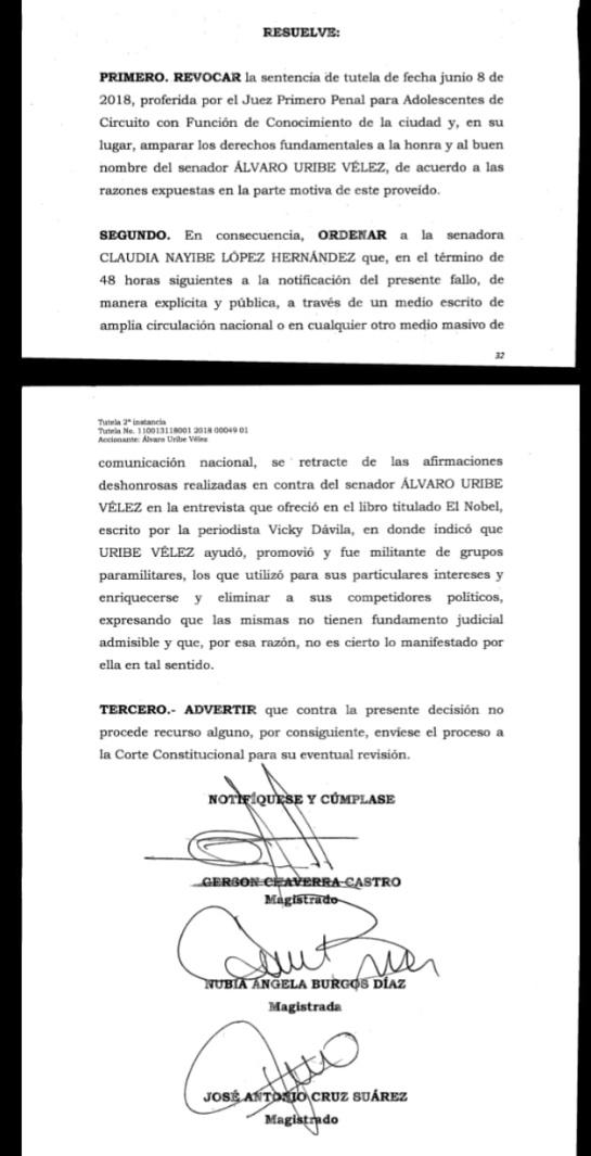 Señalamientos de Claudia López contra Uribe: Claudia López otra vez a retractarse