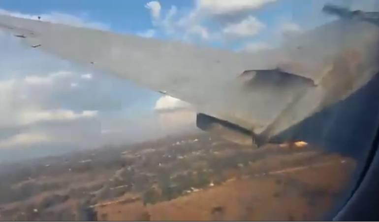 Graban los últimos momentos de un avión antes de estrellarse
