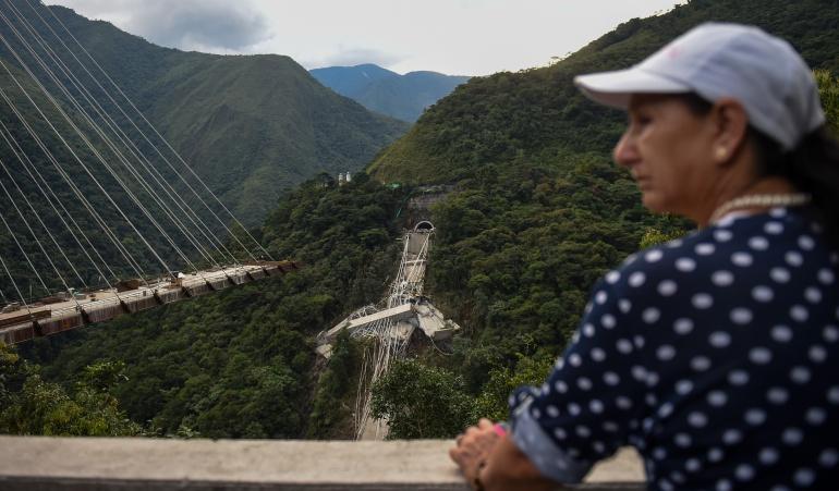 Derrumbe del puente Chirajara