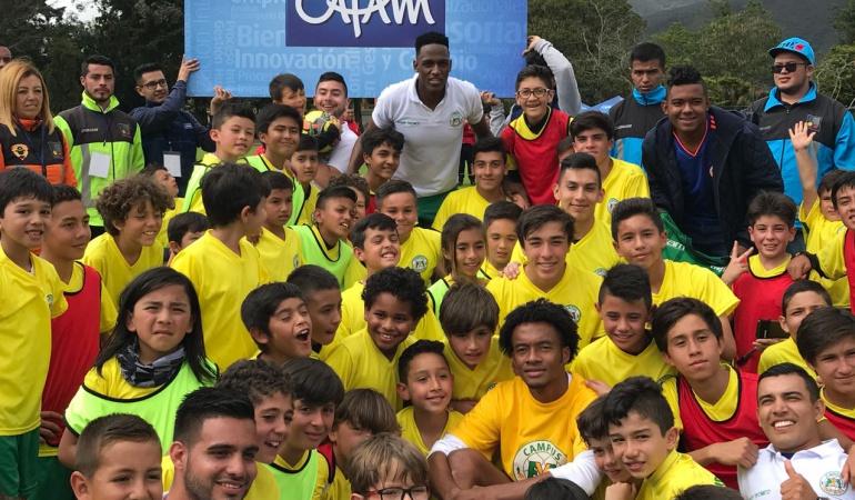 Fundación Mina Cuadrado: Mina celebró el primer campus deportivo de su Fundación junto a Cuadrado