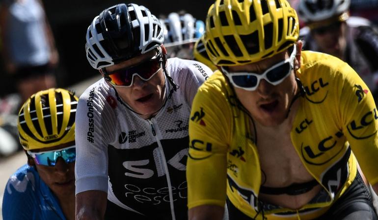 """Geraint Thomas Tour de Francia: Thomas: """"Si Froome y yo corriéramos uno contra el otro seríamos estúpidos"""""""
