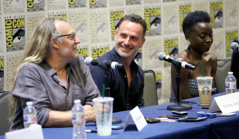 """Elenco """"The Walking Dead"""" en Comic-Con: Andrew Lincoln confirma su adiós a """"The Walking Dead"""""""