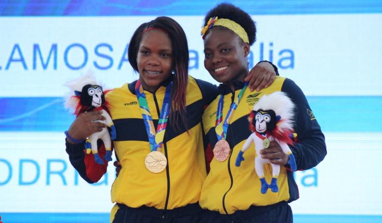 Natalia Llamosa y Jackelina Heredia oro: Natalia Llamosa y Jackelina Heredia obtienen oro y bronce en pesas
