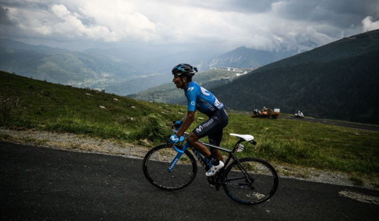 """Nairo Quintana cadera pedales Tour de Francia: Nairo: """"Me dolía todo el cuerpo, la cadera y casi no podía dar pedales"""""""