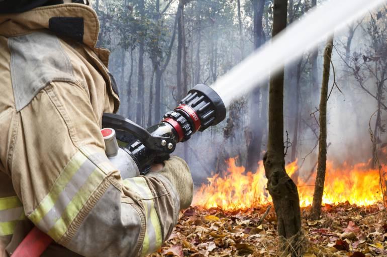 El protocolo para controlar un incendio forestal en Colombia