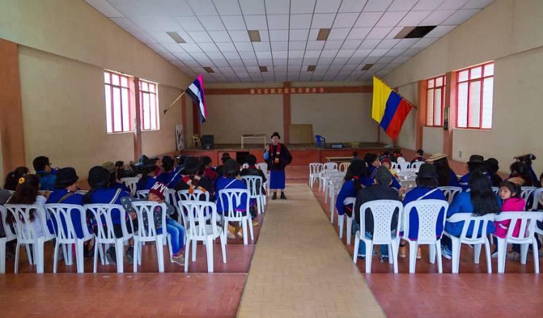 Indígenas Misak del departamento del Cauca