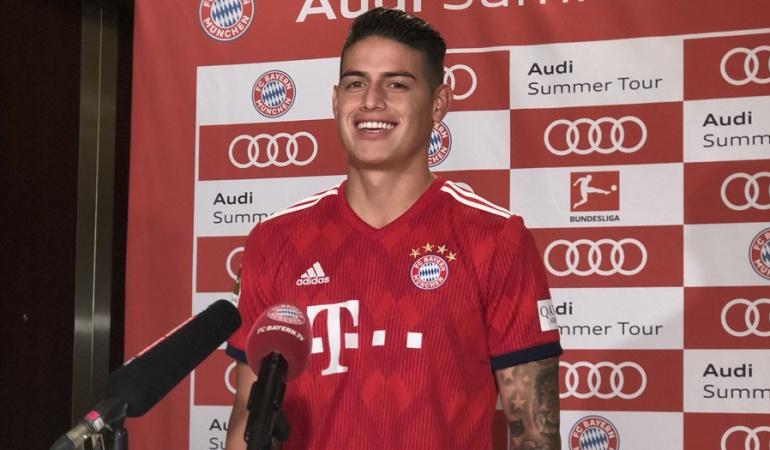"""James Rodríguez: James: """"Hay muchos rumores, pero solo pienso en el Bayern"""""""
