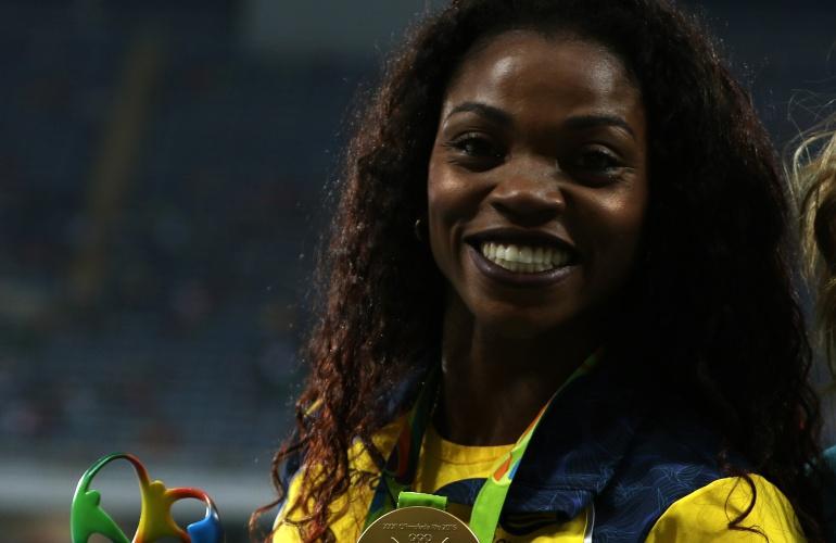 Caterine Ibargüen gana medalla de oro en el salto largo