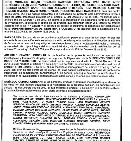 Jesurún escándalo venta boletas Selección Colombia: Jesurún, investigado por escándalo en venta de boletas de la Selección