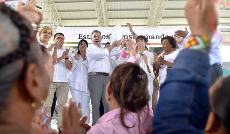 Proceso de paz Farc: No se dejen robar los planes territoriales para la paz: Santos