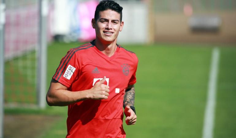 James entrenamientos Bayern Múnich: James Rodríguez retornó a los entrenamientos con el Bayern Múnich