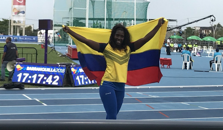 María Lucelly Murillo Oro lanzamiento jabalina: María Lucelly Murillo gana Oro en el lanzamiento de jabalina