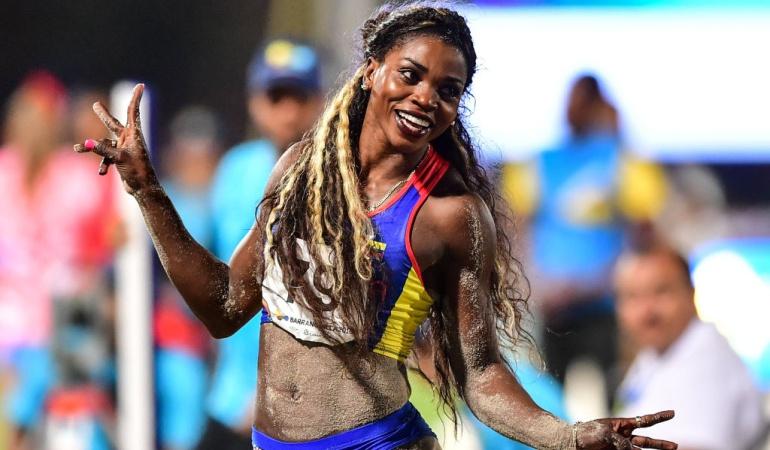 Caterine Ibargüen: 'La reina del salto triple' domina de principio a fin y se cuelga el Oro