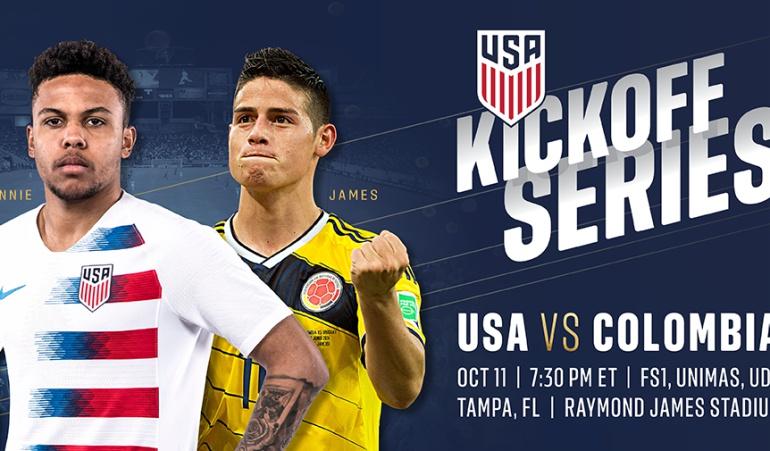 Se confirmó amistoso de Colombia contra Estados Unidos