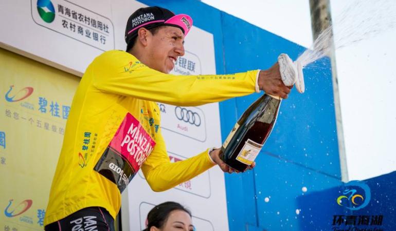Ciclismo colombiano Lago de Qinghai: El colombiano Hernán Aguirre gana el Tour de Qinghai Lake en China