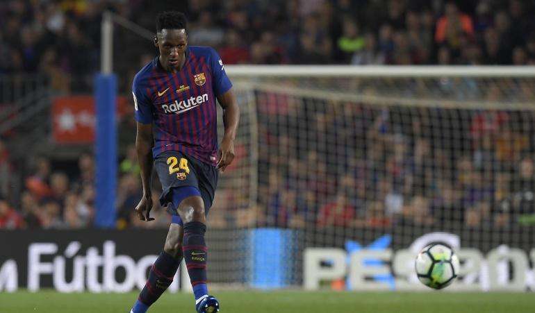 Yerry Mina regresa este lunes a Barcelona para entrenarse: Mina se presenta este lunes en el Barcelona para iniciar entrenamientos