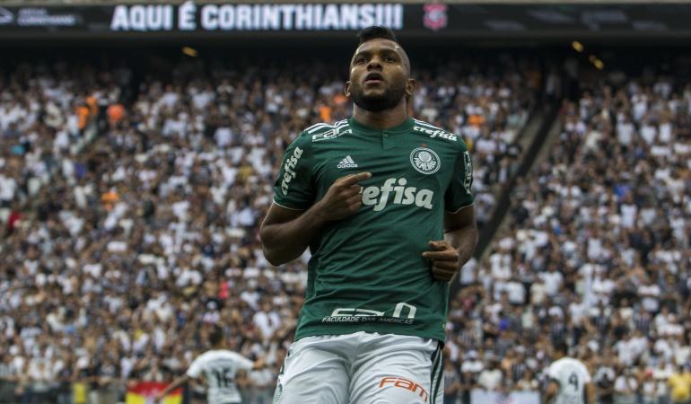 Miguel Borja: Miguel Borja reapareció con Palmeiras tras superar la lesión en la rodilla