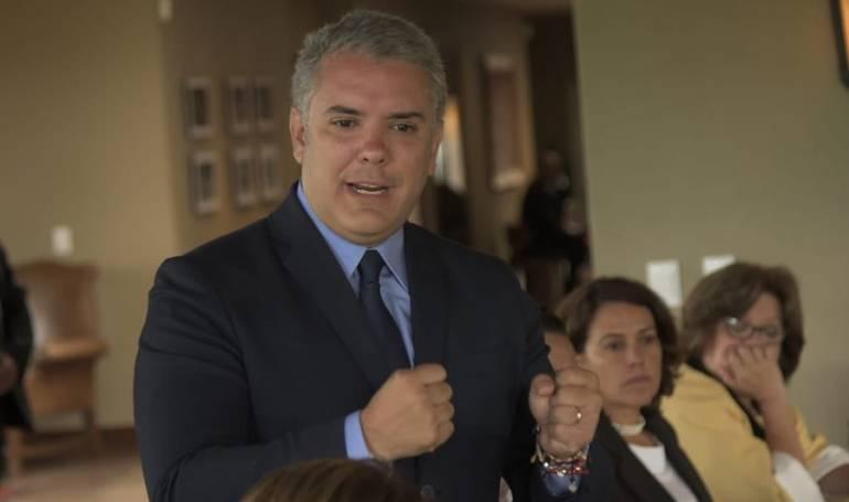 Iván Duque se reunió con los presidentes de Ecuador, Panamá y Honduras