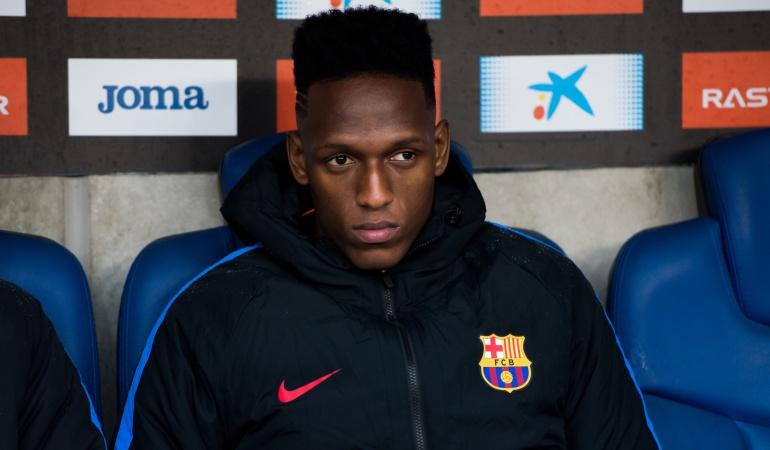 Yerry Mina salida: Yerry Mina no entrenó con el Barcelona y su salida está cada vez más cerca