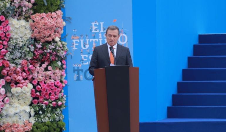 Discurso del presidente del senado Ernesto Macias