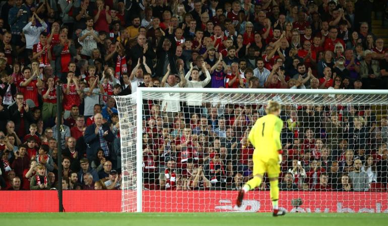 Ovación Karius Anfield Liverpool: Los hinchas del Liverpool ovacionaron a Karius en su regreso a Anfield