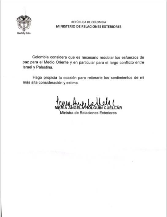 Reconocimiento Colombiano a Palestina: Palestina asegura que Colombia lo reconoció como Estado